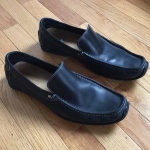 Coach Leather Penny Loafers Black, size 11.5.